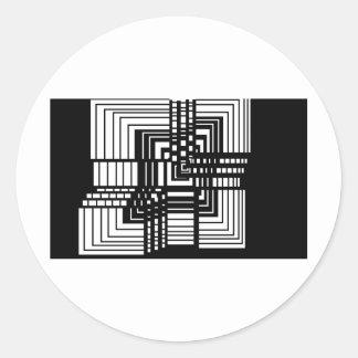 unbox me classic round sticker