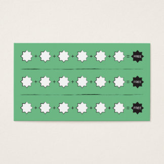 Unbranded Stars Punch Stamp Loyalty Card