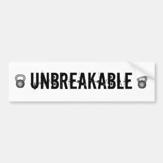 Unbreakable Car Bumper Sticker