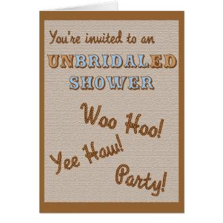 UnBridaled Shower Invitation