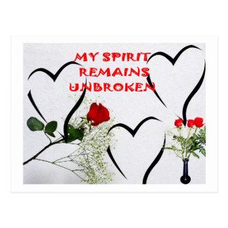 UNBROKEN SPIRIT Postcard