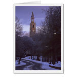 UNC Bell Tower in Winter 1 Greeting Card