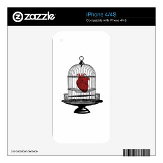 Uncage My Heart iPhone 4 Skins