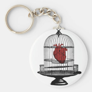 Uncage My Heart Keychain