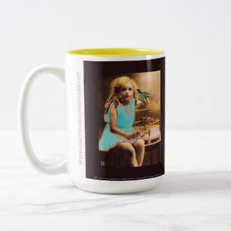 Uncaged Raven Vintage Photo Coffee Tea Cup Mug