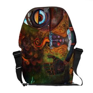 Uncanny Valley / Robot / Rickshaw Messenger Bag