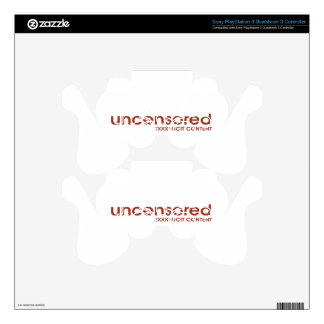 Uncensored PS3 Controller Skins