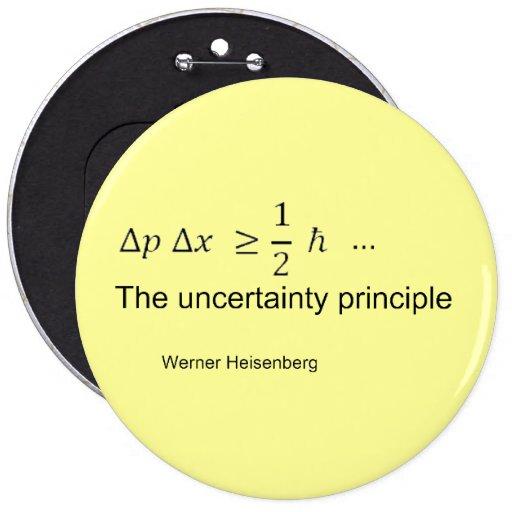 Uncertainty principle pinback button