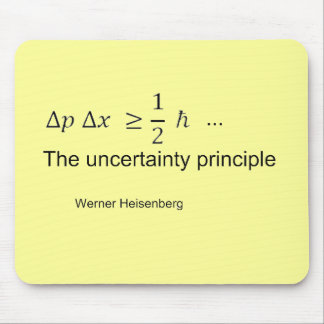 Uncertainty principle mouse pad