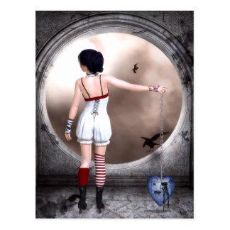 Unchain My Broken Heart Gothic Art Postcard