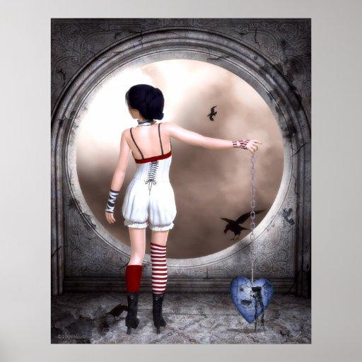 Unchain My Broken Heart Gothic Art Poster