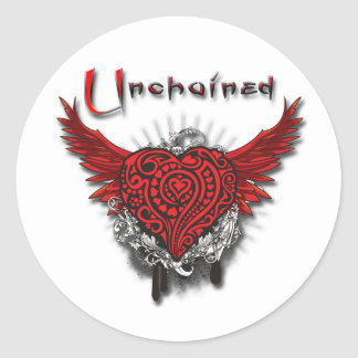 Unchained Heart Classic Round Sticker