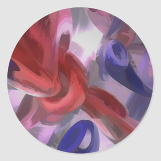 Unchained Pastel Abstract Classic Round Sticker