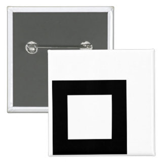 Unchecked Black Box for Light Tees 2 Inch Square Button