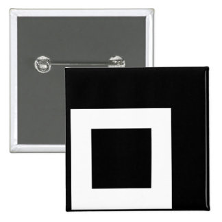 Unchecked White Box for Dark Tees 2 Inch Square Button
