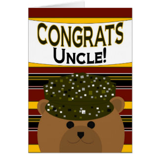 Uncle - Army Soldier Congrats! Card