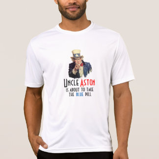 Uncle Aston Blue Pill Private Collection Fashion T-Shirt