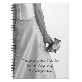 Uncle Bridesman thank you Notebook