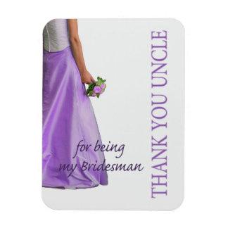 Uncle Bridesman thank you Rectangular Photo Magnet