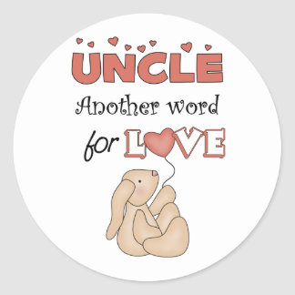Uncle Children's Gifts Classic Round Sticker