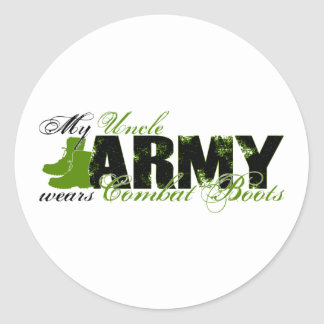 Uncle Combat Boots - ARMY Classic Round Sticker