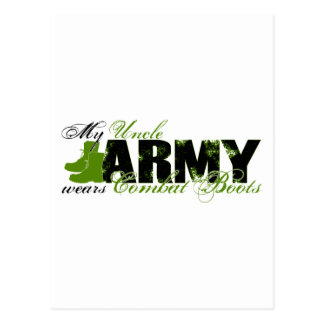 Uncle Combat Boots - ARMY Postcard