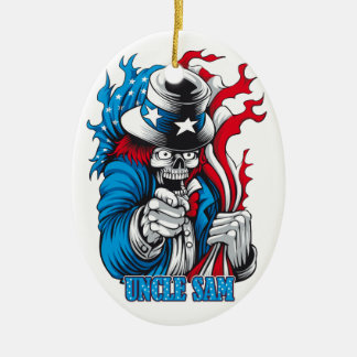 Uncle Dead wants You Christmas Tree Ornament