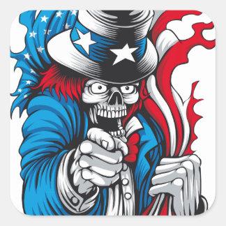 Uncle Dead wants You Square Sticker