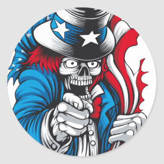 Uncle Dead wants You Classic Round Sticker