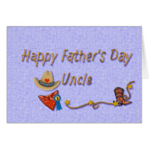 Uncle Fathers Day Western style Card