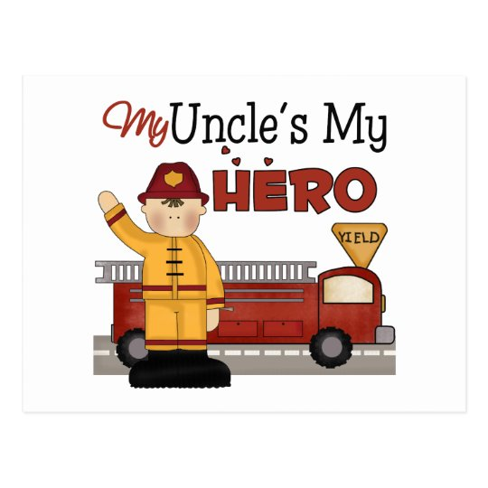 Uncle Firefighter Children's Gift Postcard