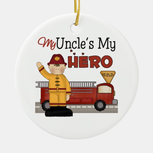 Uncle Firefighter Christmas Ornament