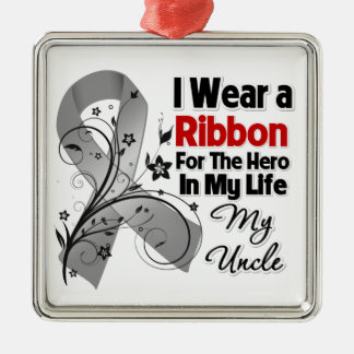 Uncle Hero in My Life Brain Cancer Christmas Ornaments
