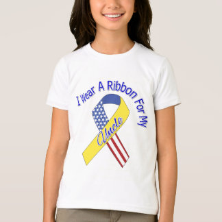 Uncle - I Wear A Ribbon Military Patriotic T-Shirt
