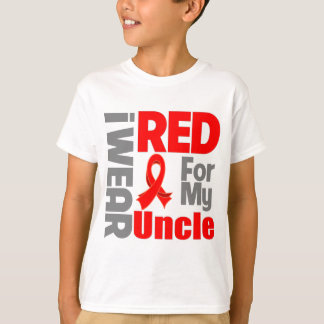 Uncle - I Wear Red Ribbon T-Shirt