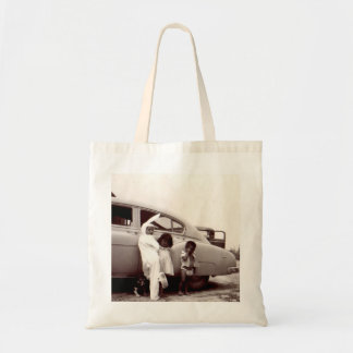 Uncle in bunny suit plain tote canvas bags