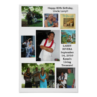 Uncle Larry Rivera 80th Birthday Poster
