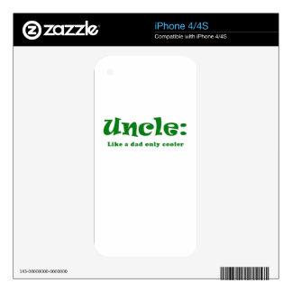 Uncle Like a Dad only Cooler iPhone 4S Skins