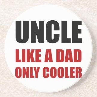 Uncle Like Dad Cooler Drink Coaster