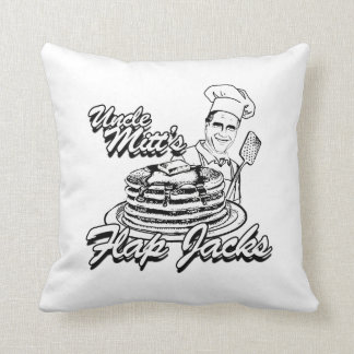 UNCLE MITT'S FLAP JACKS.png Throw Pillows