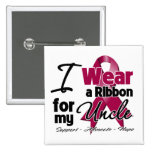 Uncle - Multiple Myeloma Ribbon Buttons