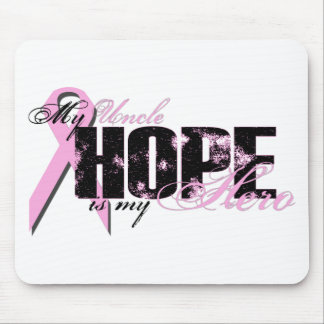 Uncle My Hero - Breast Cancer Hope Mouse Pad