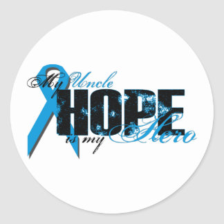 Uncle My Hero - Prostate Hope Classic Round Sticker