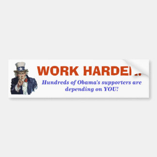 Uncle Obama wants YOU! Bumper Sticker