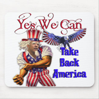 Uncle Obama, Yes We Can Take Back America Mouse Pad