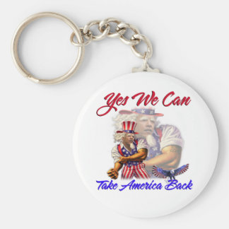 Uncle Obama, Yes We Can Take Back American Keychain