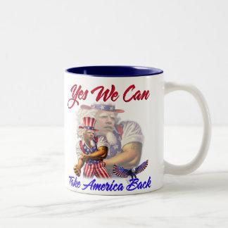Uncle Obama, Yes We Can Take Back American Two-Tone Coffee Mug