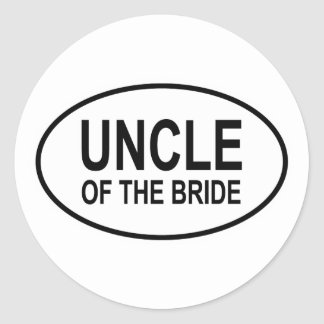 Uncle of the Bride Wedding Oval Classic Round Sticker