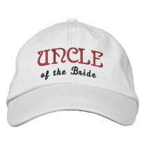 UNCLE of the BRIDECustom Name WHITE B7 Embroidered Baseball Hat