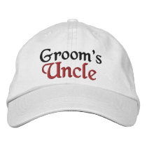 UNCLE of the GROOM Custom Name WHITE A07C8 Embroidered Baseball Hat